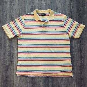 Polo by Ralph Lauren Yellow Rainbow Stripe Polo